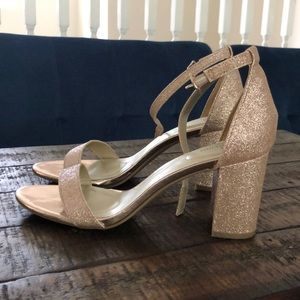 Rose gold, size 8 woman's heels
